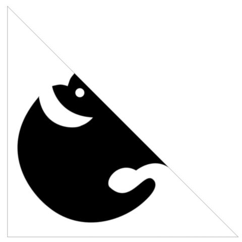 家紋切り紙「光琳蝙蝠」