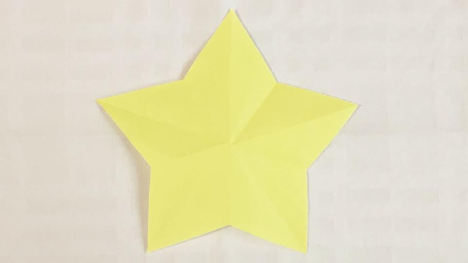 星の切り紙