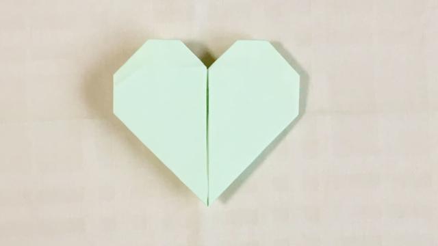 ハートの折り紙