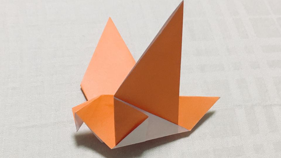 ハト(鳩)の折り紙