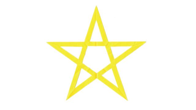 五芒星(ごぼうせい)の家紋切り紙