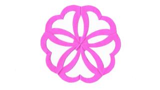 結び桜(むすびさくら)の家紋切り紙