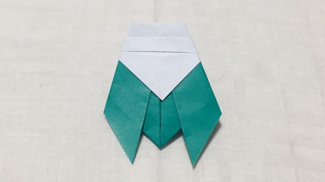 セミ(蝉)の折り紙