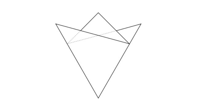 3つ折りの基本形/切り紙・紋切り遊び
