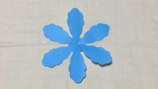 春風雪(はるかぜゆき)の家紋切り紙