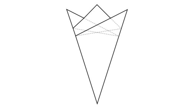 5つ折りの基本形/切り紙・紋切り遊び