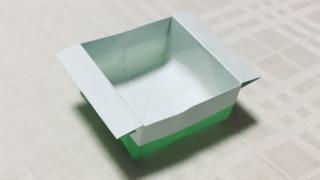 箱の折り紙