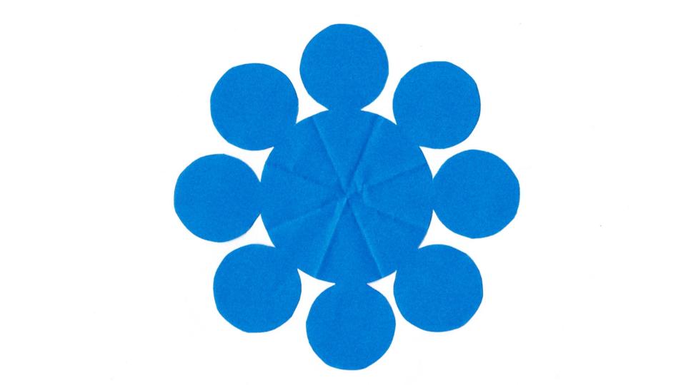 九曜(くよう)の家紋切り紙