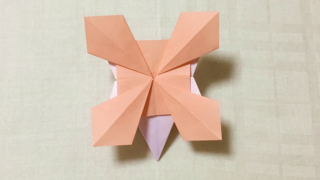 ヤグルマソウ(矢車草)の折り紙