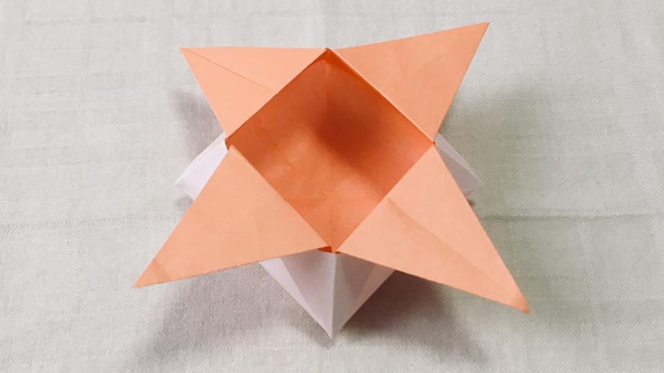 角香箱(つのこうばこ)の折り紙