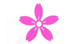 細山桜(ほそやまさくら)の家紋切り紙