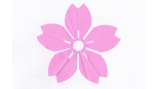 山桜(やまさくら)の家紋切り紙