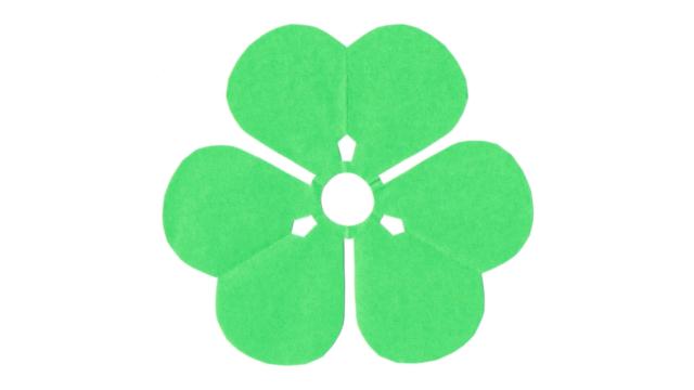 片喰(かたばみ)の家紋切り紙