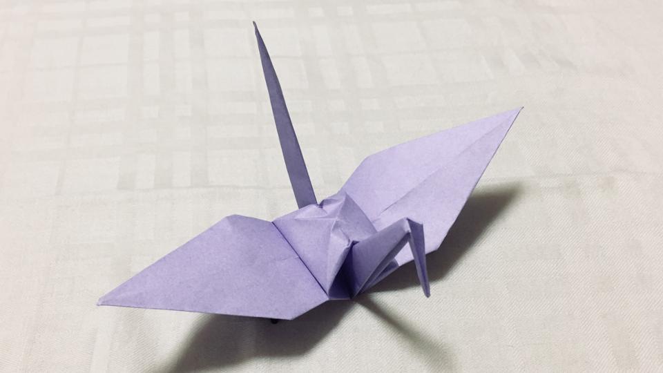 ツル(鶴)の折り紙