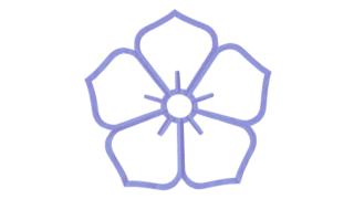 陰桔梗(かげききょう)の家紋切り紙