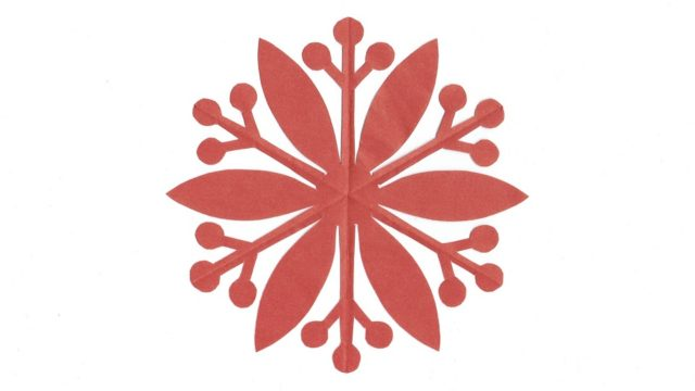 南天車(なんてんぐるま)の家紋切り紙