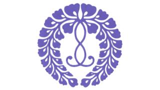 西六条下り藤(にしろくじょうさがりふじ)の家紋切り紙