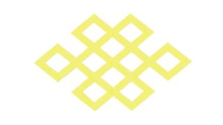 角宝結び(かくたからむすび)の家紋切り紙