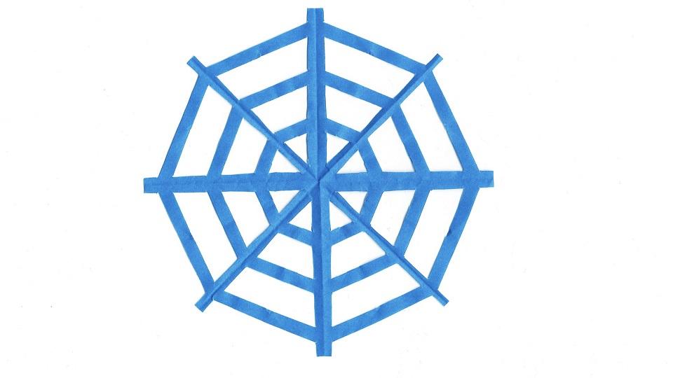 クモの巣の切り紙