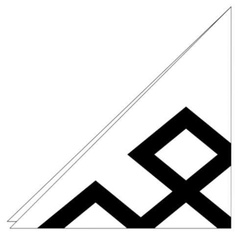 家紋切り紙「角宝結び」